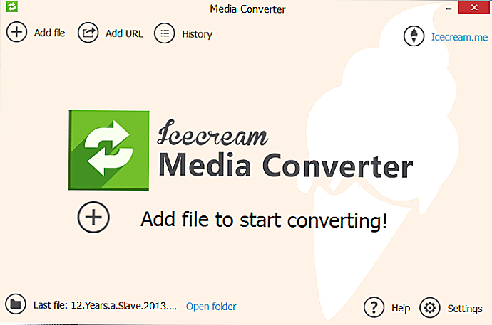 Icecream Media Converter: Gratis og Easy Media Converter - Hvordan