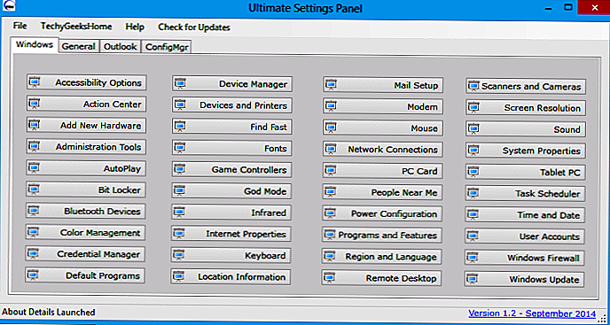 Ultimate Settings Panel: Snarveier til Windows-innstillinger - Hvordan