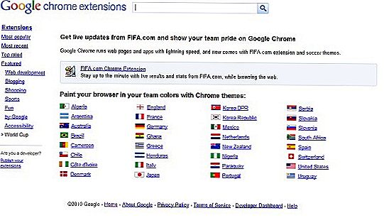 FIFA World Cup-temaer for Google Chrome Browser
